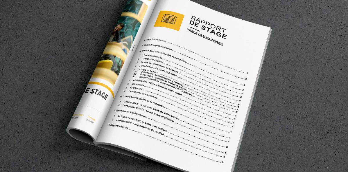 Modele De Rapport Stage A Telecharger Pour Etudiants