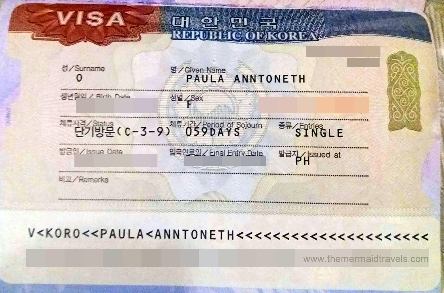 Korean Visa Application for Filipinos – The Mermaid Travels on jordan visa application form, russian visa application form, kuwait visa application form, malaysia visa application form, laos visa application form,