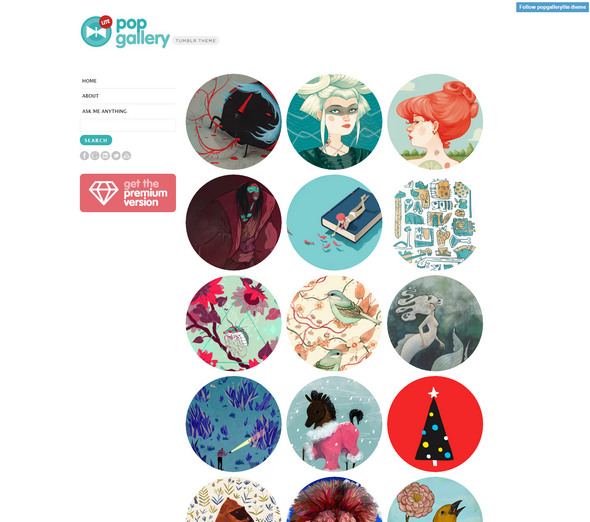 pop gallery lite theme for tumblr cms