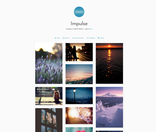 simple 3 column tumblr theme