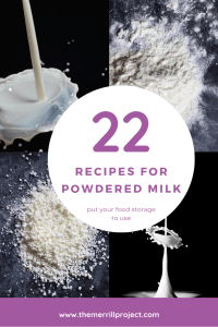 I never used powdered milk before, but needed it for my food storage. Started collecting recipes... here is a list of 22 recipes for powdered milk