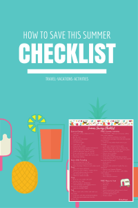 Are you looking for more ways to save this summer? Read more for over 100 ways for how to cut summer costs to help with those tight budgets... or to help you live more frugally. FREE checklist download for a quick guide. | summer savings | how to save more money | frugal summer ideas |