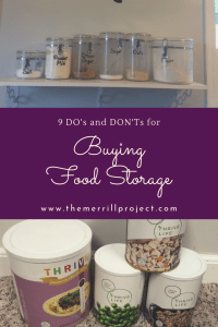 Food storage has adapted over the years and old plans aren't working. Read the top do's and don'ts to buying food storage