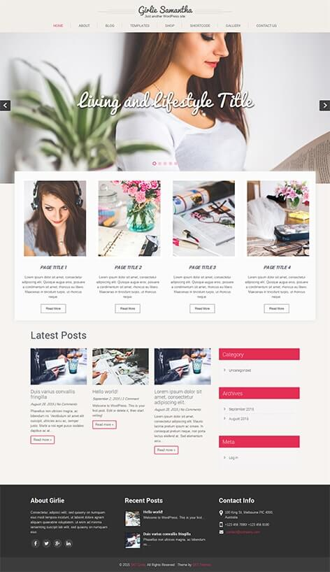 free feminine women WordPress theme