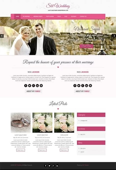 free wedding WordPress theme