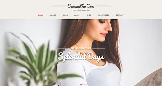 free girly WordPress theme