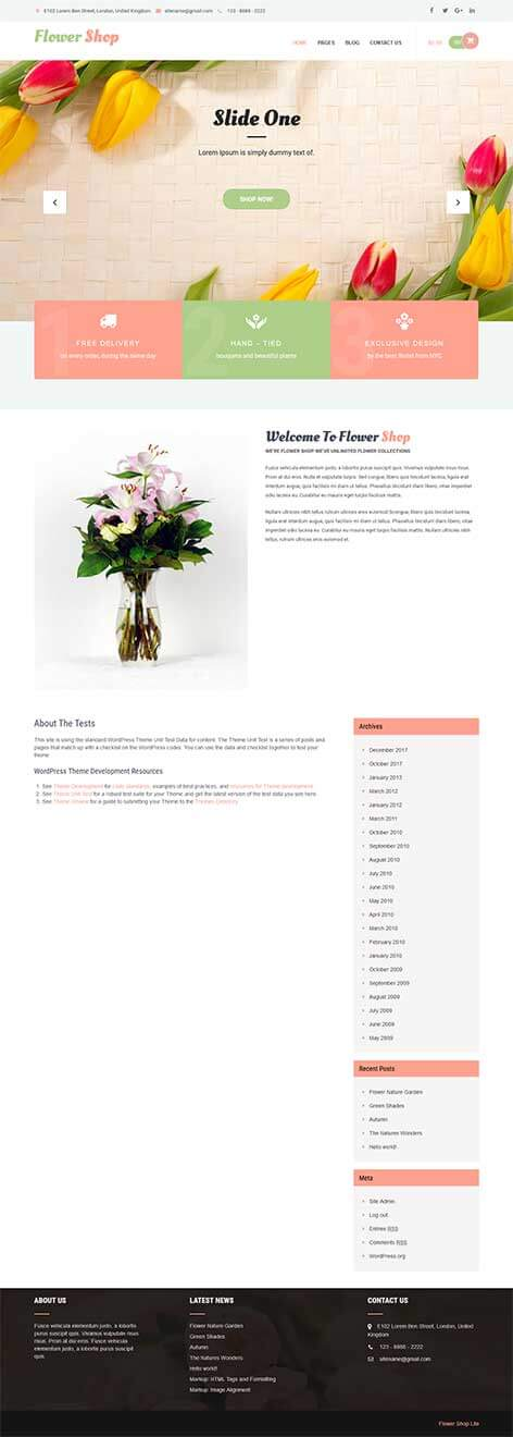 free store WordPress theme