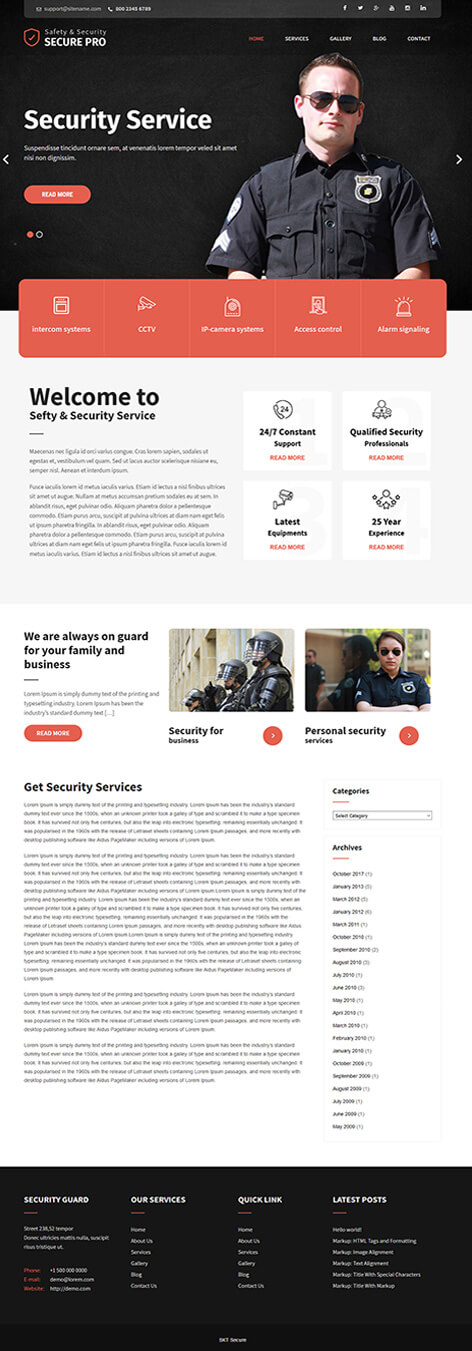 free police WordPress theme