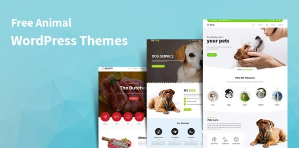 free animal WordPress themes