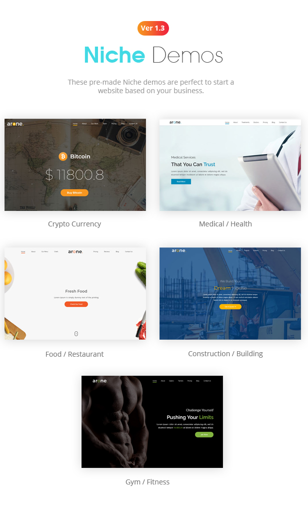 Arone - One Page Parallax - 3