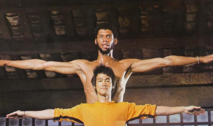 Kareem Abdul-Jabbar and Bruce Lee