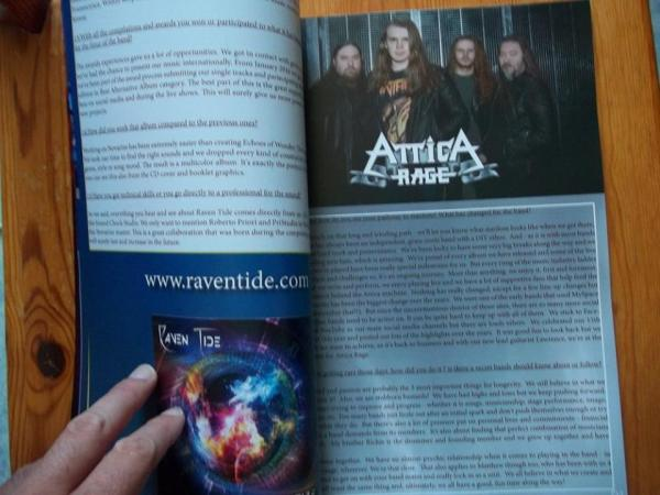 The Metal Mag N°23 with Raventide -Attica rage