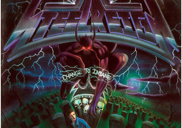 "Steel Reign : ""Change To Insane"" CD 2020 Reissue Heaven and Hell Records."