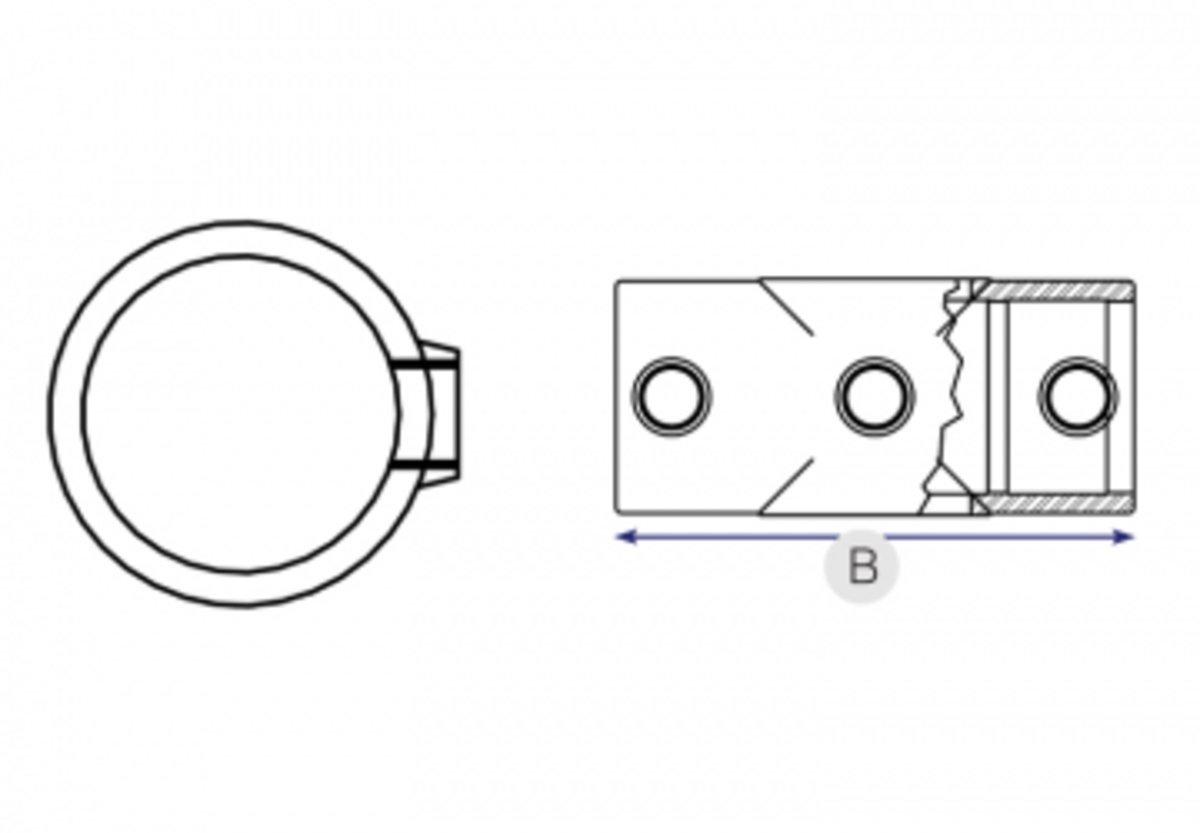 2 Socket Cross 119 90 Degree Joint Between A Vertical 2