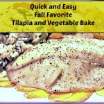 Tilapia and vegetable bake