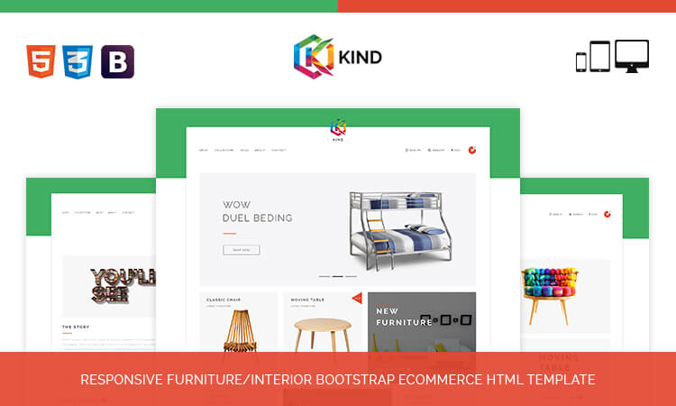 Kind responsive furnitureinterior bootstrap ecommerce html live demo maxwellsz