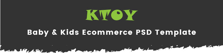 Ktoy Baby Kid Toys Store Ecommerce Psd Template Themetidy