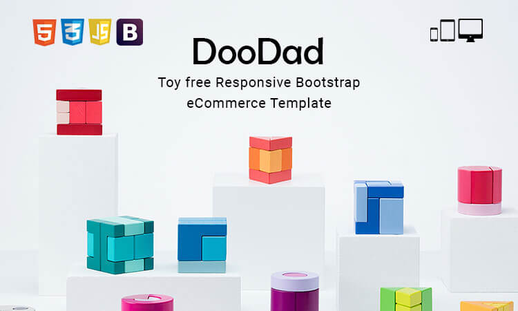 Doodad - Toy free Responsive Bootstrap eCommerce Template | ThemeTidy