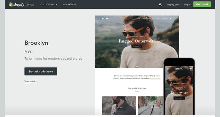 Shopify Brooklyn Theme For Your Beautiful ECommerce Online Store - Shopify store templates