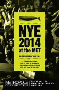 2014 New Year's Eve at the Met Pub