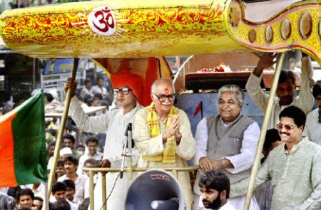 Image result for advani yatra