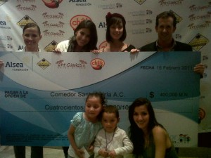 Gaby at PF Change charity event