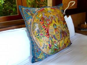 Pineda Covalin pillow at Imanta Resort Punta Mita