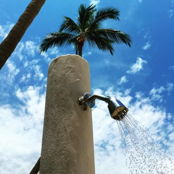 Outdoor shower at Hyatt Ziva Puerto Vallarta © The Mexico Report