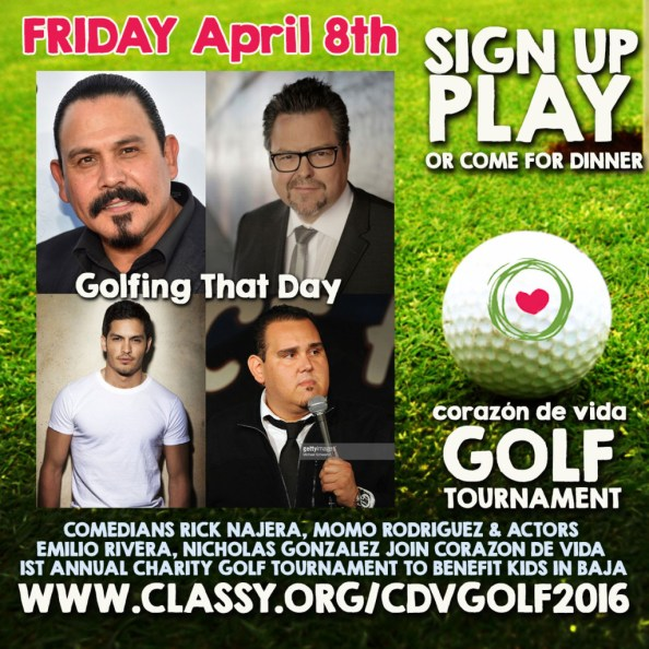 (Emilio Rivera, Rick Najera, Nicholas Gonzalez, Momo Rodriguez) Corazon de Vida's First Annual Charity Golf Tournament 2016