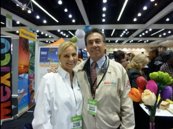 Editor of The Mexico Report, Susie Albin-Najera with Jorge Gamboa, Director of Mexico Tourism Board Los Angeles