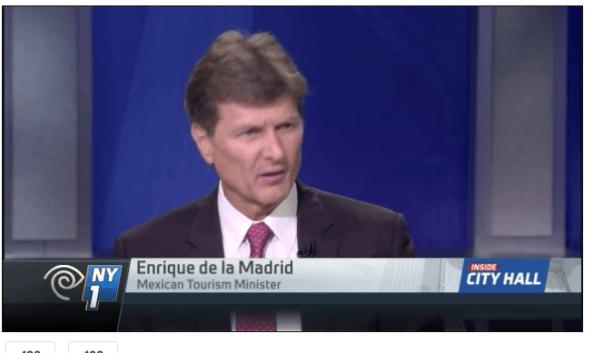 Enrique de la Madrid, Mexico's Secretary of Tourism