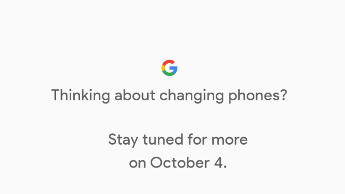 Pixel 2 announcement