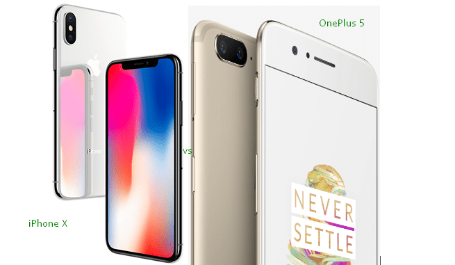 iPhone X vs OnePlus 5