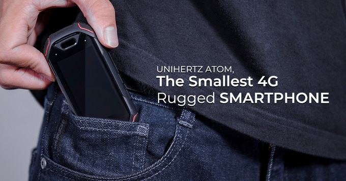 "Unihertz Atom: World's Smallest Smartphone with 2.45"", 4g, Fingerprint, and 4gb/64gb"