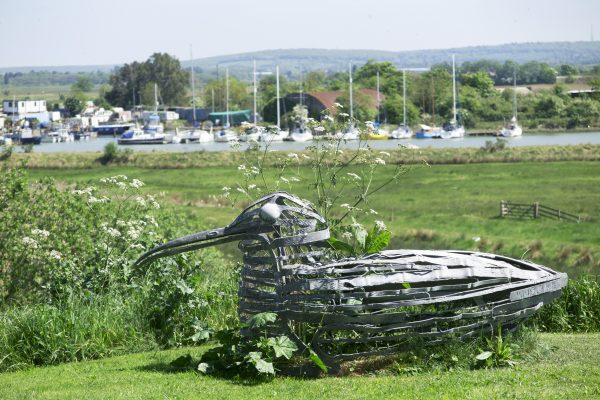 Pick a coastal theme for your garden sculpture