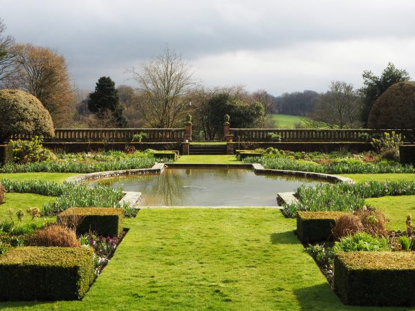 Sunk Garden at Doddington Place in late March