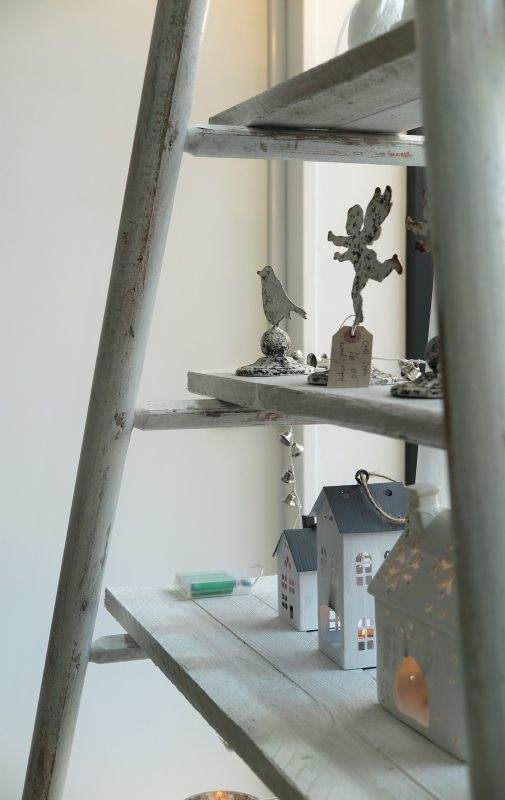Hop-picking ladder shelf unit