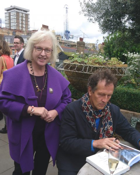 Monty Don signing copies of 'Down to Earth'