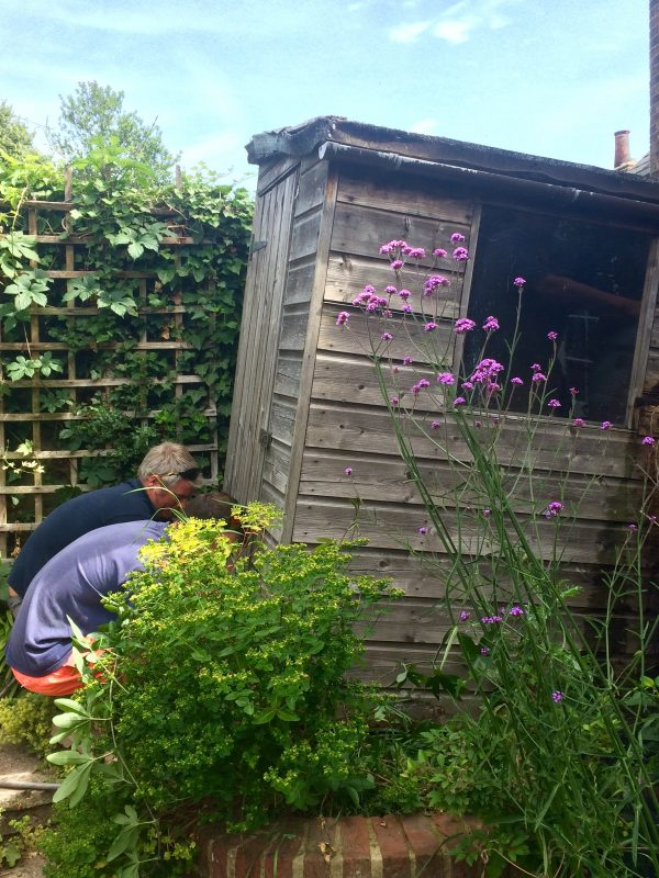 How to move a garden shed