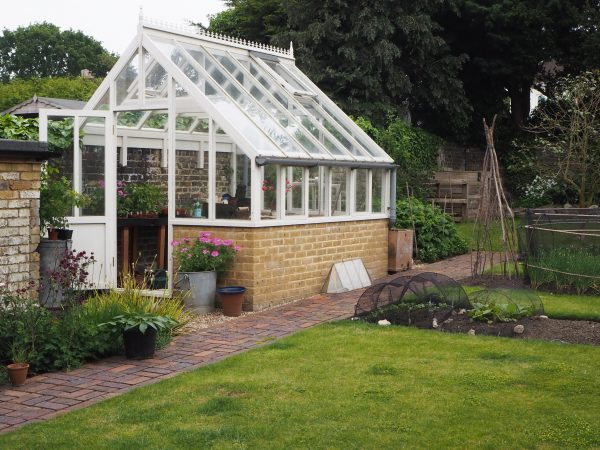 A greenhouse on one side