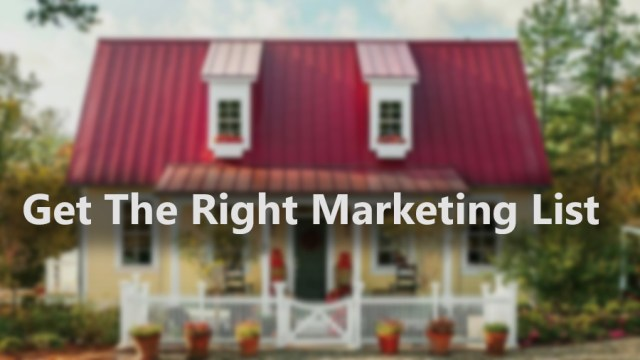Get the right marketing list