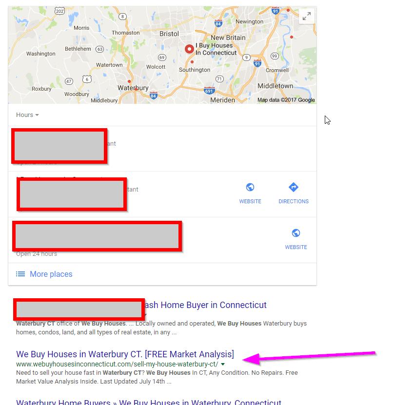 How to rank 1 on google we buy houses in waterbury CT