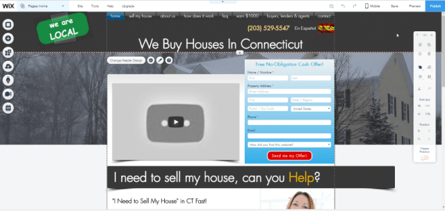 Free Wix We Buy Houses In CT site