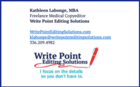Kathleen's email signature boosts awareness of her freelance services.