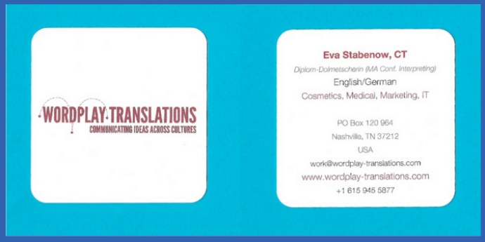 Eva's logo and tagline help her attract the right clients.