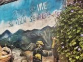 street art mindo ecuador without gold we live without water we die