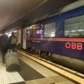 The nightjet overnight train from Rome to Vienna by OBB