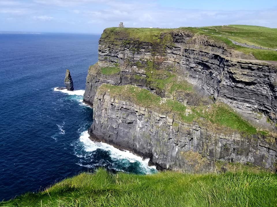 Right view of Cliffs of Moher in Ireland