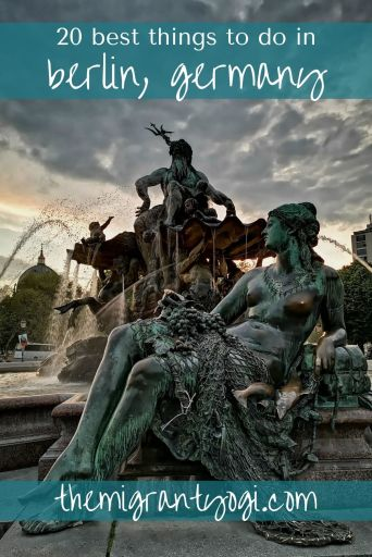 Pinterest graphic of statue in Berlin with text: 20 Best things to do in Berlin.