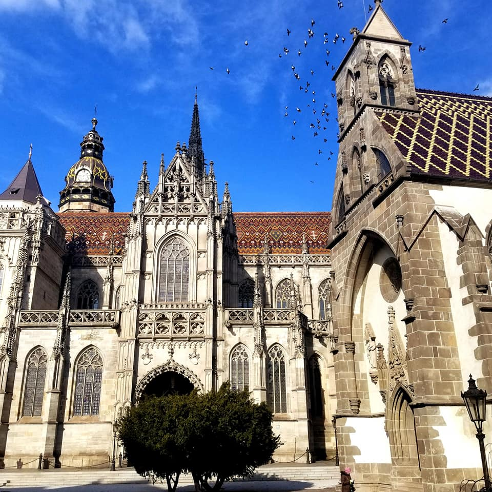 Large church in Kosice, Slovakia, a doable day trip from Budapest.